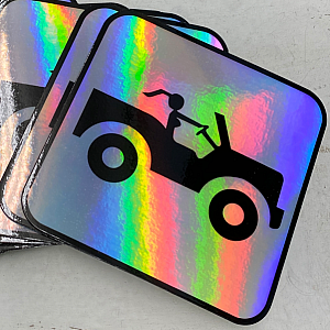 Jeep Girl Sign Holographic Sticker