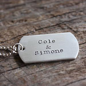 Dog Tag Necklace - Brushed Dog Tags