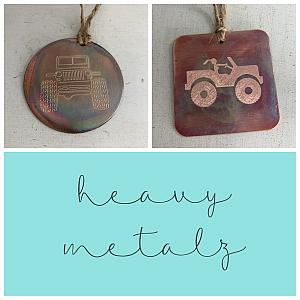 Jeep Christmas Ornament - Copper Ornament