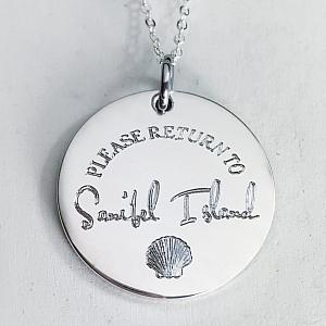 Please Return To Sanibel - Travel Necklace
