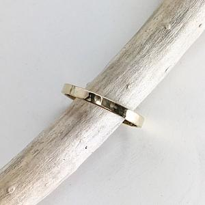 14K Gold Hammered Ring - Band - Wedding Ring