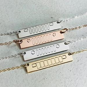 Jeep Grille Bar Necklace - Jeep Jewelry