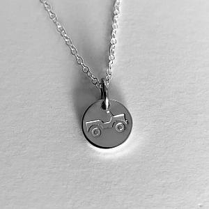 Jeep Dainty Necklace - Sterling Silver