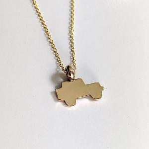 14K Gold Jeep Silhoette Necklace