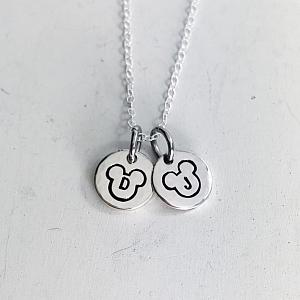 The Dainty Mice Plus 2 - Sterling Silver Necklace
