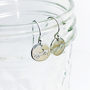Jeep Earrings - Sterling Silver Dainty Dangles