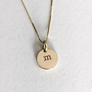 14K Gold Letter Charm Necklace