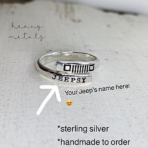 Custom Jeep Name - Jeep Grille Wrap Ring - You Choose Headlights