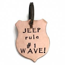 Jeep Wave - Copper Keychain