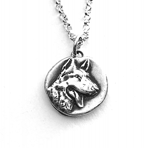 German Shepherd Wax Seal Necklace