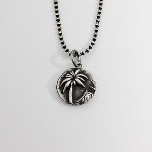 Palm Tree Necklace - Fine Silver Handmade Pendant