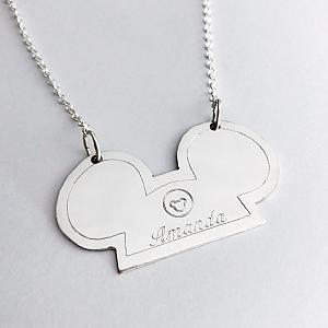 Mouse Ears Hat - Personalized Necklace