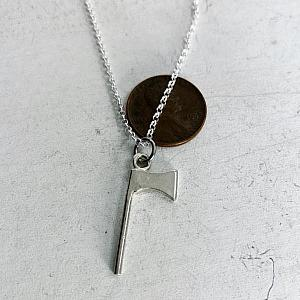 Axe Necklace - Rolo Chain - Sterling Silver Handmade Charm