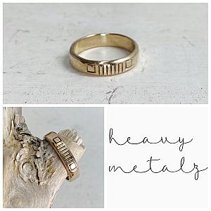 14K Gold Toe Ring or Midi Ring - Jeep Grille Ring
