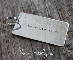 I Love You More Keychain - Large